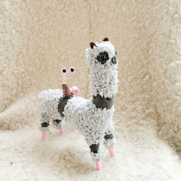 Ooak Alpaca Plush Llama Ooak Doll Soft toy - Plush Toy - Plush Alpaca - Stuffed Llama, Plush Animal Alpaca - Plush Llama