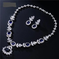Luxury Cubic Zircon Bridal Jewelry Set