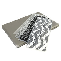 UHURU Great Deal Bundle for Apple Macbook Air 13.3' Model: A1369 and A1466 - Ultra Slim Rubberized Hard Case + 4 Different Styles Silicone TPU Chevron Keyboard Covers (Macbook Air 13' A1369 / A1466, Gray)