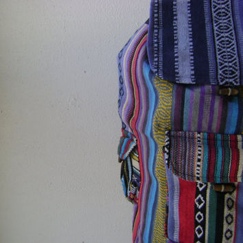 37079e3845 90s mexican print backpack vintage 1990s grunge ethnic print boo