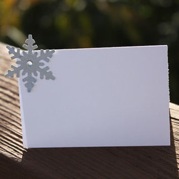 Winter Wedding Place Cards