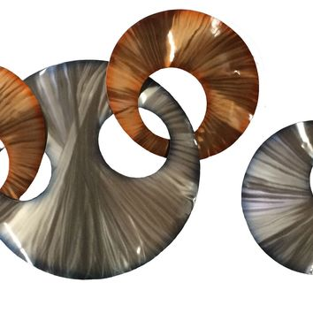Vibrance Contemporary Wall Sculpture - Set of 2