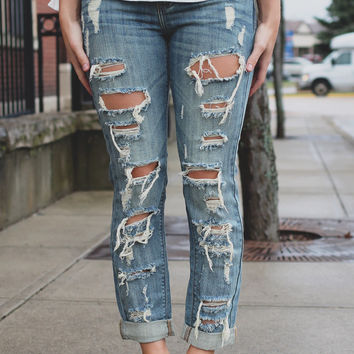 Caught In A Storm Cropped Denim