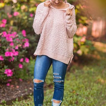 Warm Fuzzy Feelin' Sweater in Pink