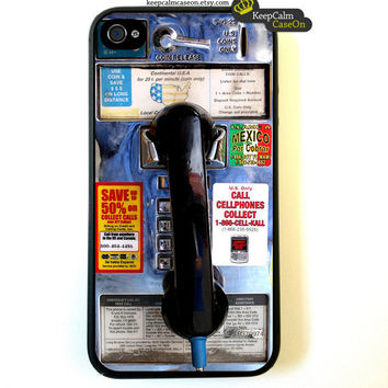 iPhone 4 Case Public Phonebooth iPhone Case Hard by KeepCalmCaseOn