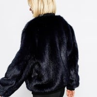 ASOS WHITE Faux Fur Bomber at asos.com