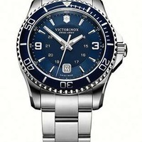 Victorinox Swiss Army Maverick GS Mens Watch - Blue Dial - Steel Case & Bracelet