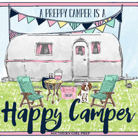 "Southern Girl Prep ""Preppy Camper"" Sticker"