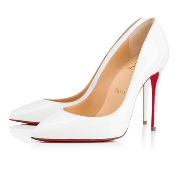 Pigalle Follies 100 Latte Patent Leather - Women Shoes - Christian Louboutin
