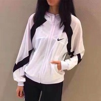 Nike Women Favorite Hooded Mesh-Sleeve Sweatshirt Jacket Coat Windbreaker Sportswear One-nice™