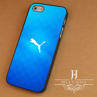 Puma blue iPhone 4 5 5c 6 Plus Case, Samsung Galaxy S3 S4 S5 Note 3 4 Case, iPod 4 5 Case, HtC One M7 M8 and Nexus Case