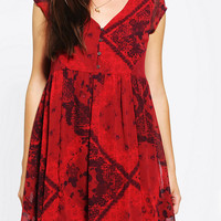 Urban Outfitters - Ecote Zoey Button-Front Babydoll Dress
