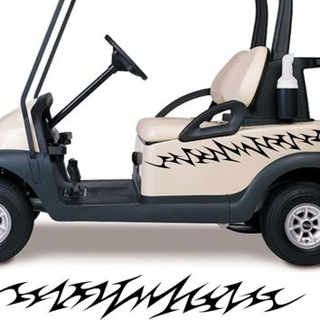 Golf Cart Go Kart Decals Side By Side Stickers Graphics Tribal Flames Stripes GG24