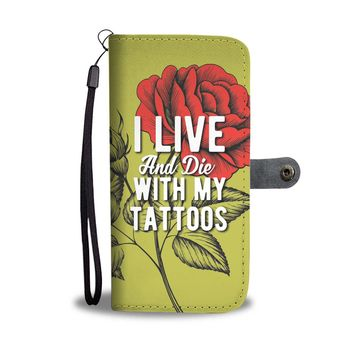 Custom Designed Tattoo Wallet Phone Case