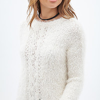 FOREVER 21 Shaggy Popcorn Knit Sweater