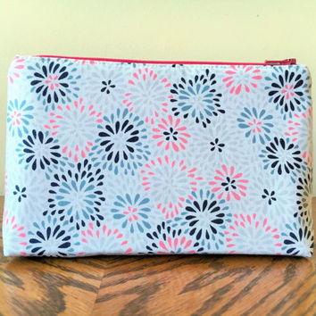 Cosmetic bag, Large Makeup Bag, Zipper pouch, Toiletry bag, Makeup bag, White makeup bag
