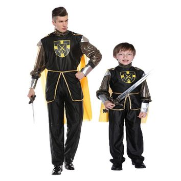 Umorden Carnival Halloween Costume for Family Matching King Prince Royal Warrior Costumes Cosplay for Men Boys Kids