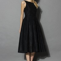 Extra Fab Backless Prom Dress in Black