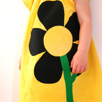 Sunny Yellow Petal Raglan Dress by karlacola on Etsy