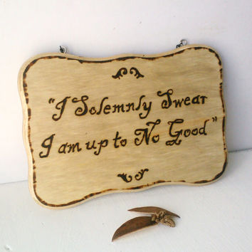 Wood burned sign (customized).