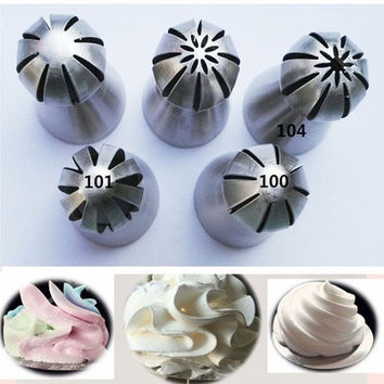 5Pc Russian Flower Cake Decorating Icing Piping Nozzles Pastry Tips Baking Tool [8323190913]