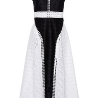 Crossweave Combo Dress