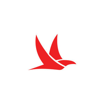 Red Falcon Fast Flight Logo Design Vector for Your Future Business
