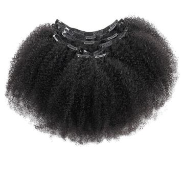 Brazilian Afro Curly Human Hair Clip In Hair Extensions