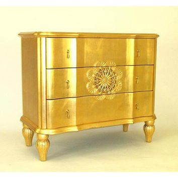 Gold Leaf Venice Dresser Wayborn Furniture Dressers Chests & Dressers Bedroom Furniture