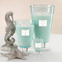 Illuminaria Vase Candle Jar - Light Blue