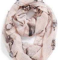 BP. Feather Print Infinity Scarf (Juniors)