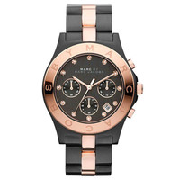 Marc by Marc Jacobs MBM3180 Women's Black Dial Two Tone Steel Chronograph Watch