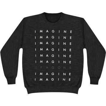 Imagine Dragons Men's  Repeat Logo Sweatshirt Charcoal Rockabilia