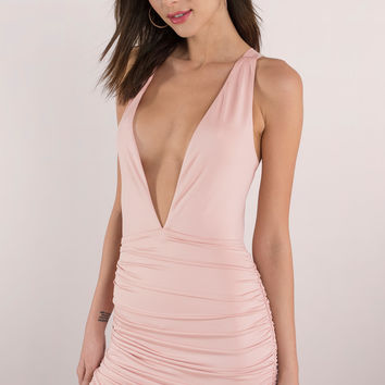 Gareth Plunging Bodycon Dress