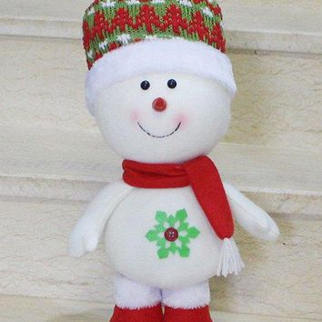 Christmas Gift Standing Snowman Doll Xmas Decoration