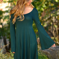 Bells Are Ringing Dress - Forest Green
