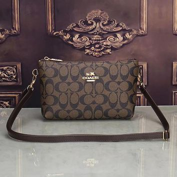 Coach Women Leather Fashion Crossbody Shoulder Bag Satchel