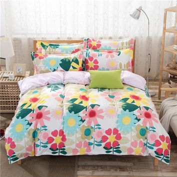 New arrival reactive printed bedding sets Popular style Duvet cover+bedsheet+2 pillowcases bedding set