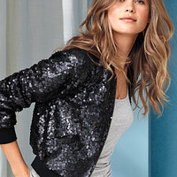 Sequin Bomber Jacket - Victoria's Secret