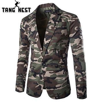2018 Camouflage Color New Design Spring Men Casual Blazer Hot Sale Fashion One Button
