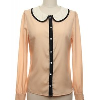 Mod About You Blouse in Peach
