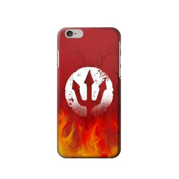 P2803 Fire Red Devil Symbol Phone Case For IPHONE 6S