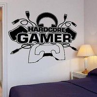 Wall Decal Game Gamer Player Gaming Vinyl For Kids Room Unique Gift (z2816)
