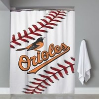 Top Baltimore Orioles Baseball Team Logo Custom Shower Curtain Limited Edition
