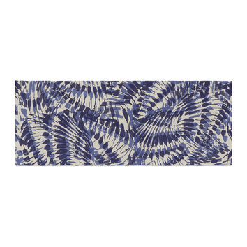 "Gukuuki ""Iggy Palms"" Navy Blue Bed Runner"