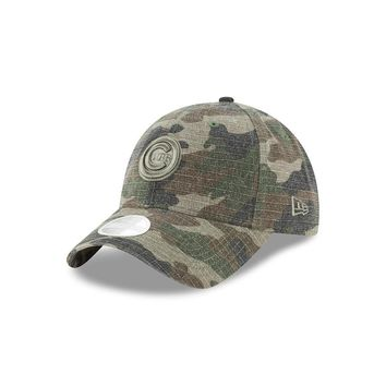 Women's Chicago Cubs New Era Bullseye Logo Camo Core Classic Twill 9TWENTY Adjustable Hat