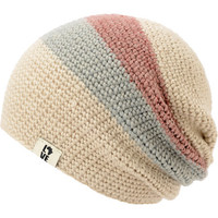 Krochet Kids 5207.5 Natural Stripe Slouchy Beanie