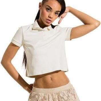 fenty puma by rihanna baby crop polo shirt nordstrom  number 1