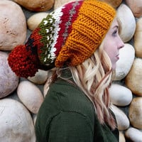 The Ainsley Slouch In Fall Fair Isle by Nolie9238 on Etsy