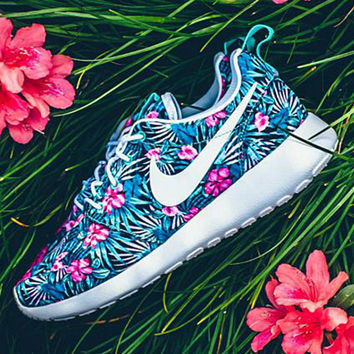 NIKE Women Men Running Sport Casual Shoes Sneakers orchid Print blue red Print